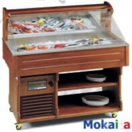 Mobili buffet refrigerati da sala espositori per mitili e pesce