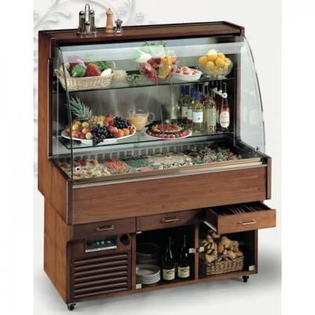Mobile buffet refrigerato 4 GN 1/1