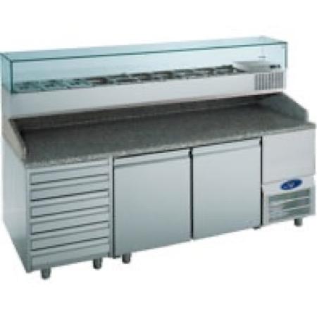 Banchi da lavoro per pizzerie refrigerati e porta ingredienti