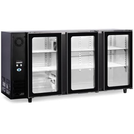 Bancone refrigerato per bibite 3 porte in vetro 460L