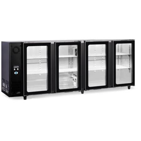 Bancone refrigerato per bibite 4 porte in vetro 610L